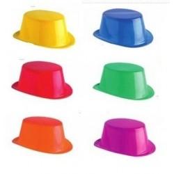 Pack 12 sombreros chistera plastico baratos