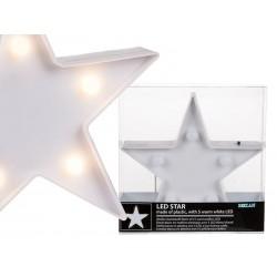 ESTRELLA BLANCA CON 5 LEDS 165 X 16 CM