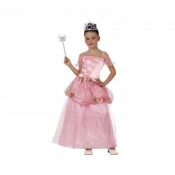 Disfraz princesa rosa para niña talla