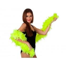 Boa verde fluor plumas 100 gr 185 cm largo