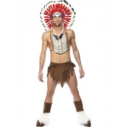 DISFRAZ INDIO AMERICANO LOS VILLAGE PEOPLE TALLA L