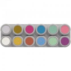 Paleta maquillaje al agua grimas 12 p