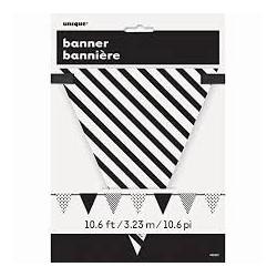 Guirnalda banderin negra y blanca 330 cm
