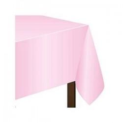 Mantel rosa pastel plastico 137 x 274 cm