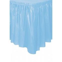 Faldon azul pastel para mesa 73 x 426 cm