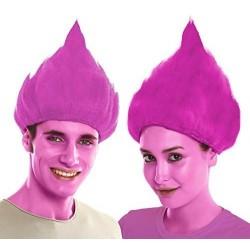 Peluca troll rosa similar poppy