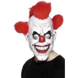 Careta payaso diabolico careta clown asesino 3/4 mascara