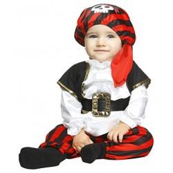 Disfraz pirata rayas para bebe infantil