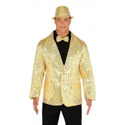 Americana lentejuelas oro para hombre talla m