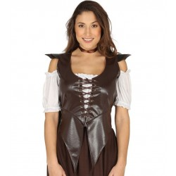 Chaleco para mujer medieval marron