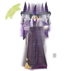 Muñeca bruja animada de 183 cm con luz sonido y movimiento