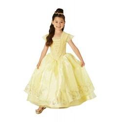 Disfraz princesa bella live action premium para niña tallas