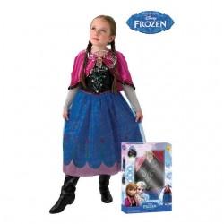 Disfraz anna de frozen para niña con luz y musica tallas