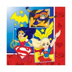 SERVILLETAS SUPER HERO GIRLS 16 UDS PARA CUMPLEANOS NINA