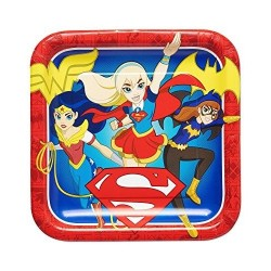PLATOS SUPER HERO GIRLS DE 23 CM PARA CUMPLEANOS NINA