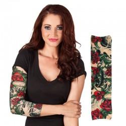 Tatuaje rosas catrina para brazo manga tatuaje catrina