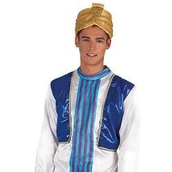 Turbante arabe dorado barato para paje