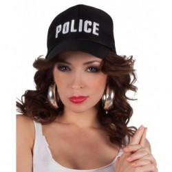 GORRRA DE POLICIA POLICE NEGRA ADULTO