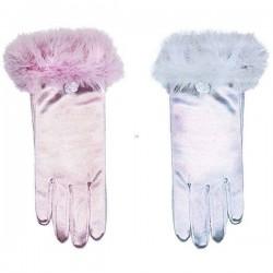 Guantes princesa infantiles cortos rosas o azules