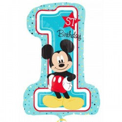 Globo nº 1 mickey mouse feliz cumpleaños