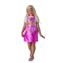 Disfraz bella durmiente con corona para niña talla 3-6 años