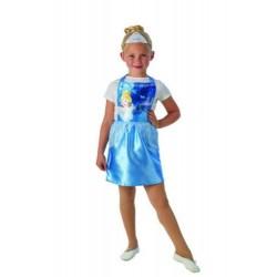 Disfraz cenicienta con corona para niña talla 3-6 años