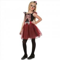 Disfraz catrina para niña esqueleto con tutu tallas