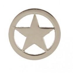 Estrella sheriff  metalica placa sheriff 6 cm