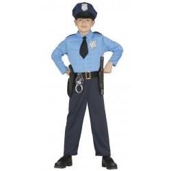 DISFRAZ POLICIA MUNICIPAL PARA NINO VARIAS TALLAS