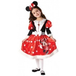 DISFRAZ MINNIE MOUSE ROJA WINTER TALLAS NIÑA