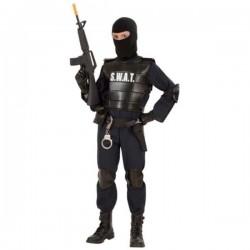 DISFRAZ AGENTE DE POLICIA SWAT ADULTO TALLA M o L o XL