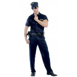 DISFRAZ AGENTE DE POLICIA NACIONAL ADULTO TALLA M 48 50