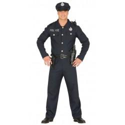 DISFRAZ POLICIA NACIONAL LARGO PARA HOMBRE