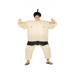 Disfraz luchador de sumo hinchable para hombre talla l 52-54