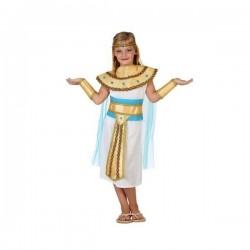 DISFRAZ EGIPCIA BLANCO FARAONA INFANTIL TALLAS