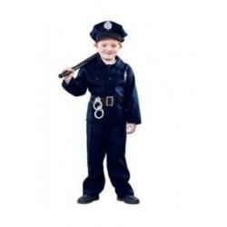DISFRAZ POLICIA MUNICIPAL LOCAL INFANTIL NINO TALLAS