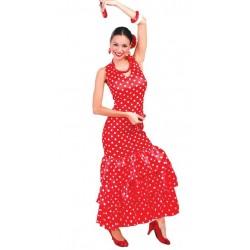 Disfraz flamenca rojo sevillana adulta talla l 42-44