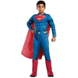 DISFRAZ SUPERMAN PREMIUM NIÑO TALLAS ORIGEN JUSTICIA