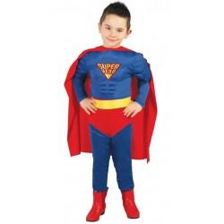 DISFRAZ SUPER MAN MUSCULOSO INFANTIL TALLAS