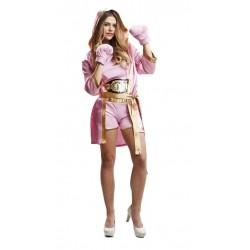 Disfraz boxeadora rosa talla m-l mujer boxing