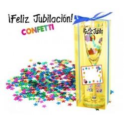COPA CRISTAL PARA JUBILACION CON CONFETI