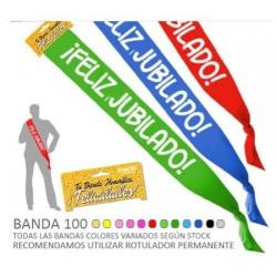 BANDA FELIZ JUBILADO DE 10 CM ANCHO JUBILACION