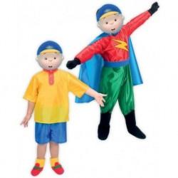 Disfraz caillou para niño 2 en 1 talla 5-7 años