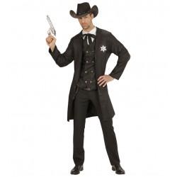 Disfraz pistolero sheriff para hombre talla ml
