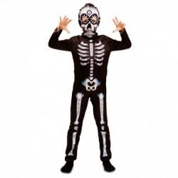 Disfraz esqueleto para niño talla 5 a 6 años