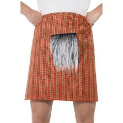 Falda escocesa con pelo