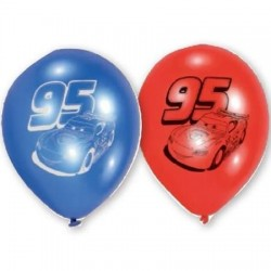 GLOBOS DE CARS BARATOS DE LATEX 9 6 UDS