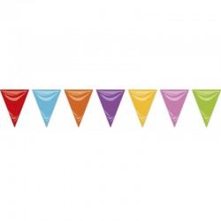 Bandera triangular multicolor fiestas 20