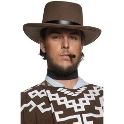 Sombrero vaquero marron deluxe oeste