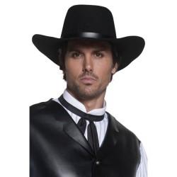 Sombrero vaquero negro del oeste